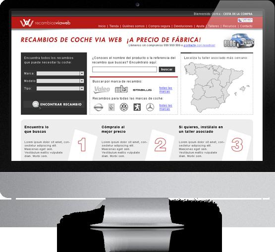 Web Recambios Viaweb
